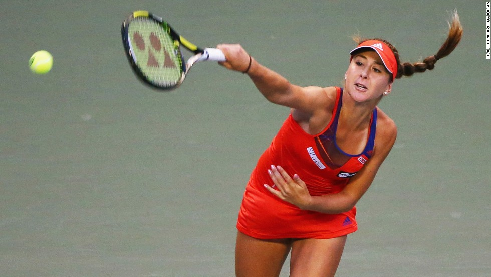 "Aged 16, Bencic was reported by <a href=""http://www.forbes.com/sites/miguelmorales/2014/03/05/16-year-old-tennis-pro-belinda-bencic-has-11-sponsors-but-shes-no-millionaire/"" target=""_blank"">Forbes</a> to have 11 sponsors."