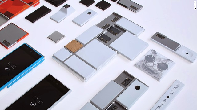 Google's Project Ara is a modular smartphone with swappable hardware components held together by magnets.