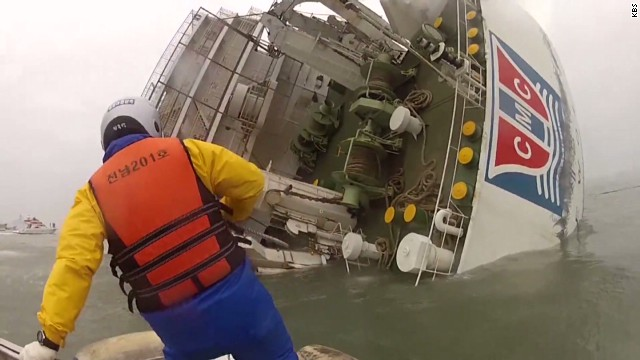 South Korean ferry capsizes
