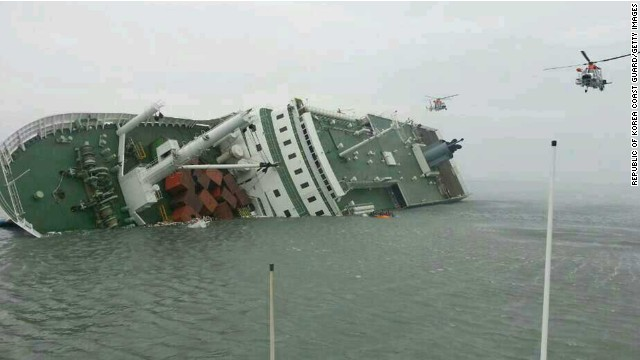 Students trapped in S. Korean ferry