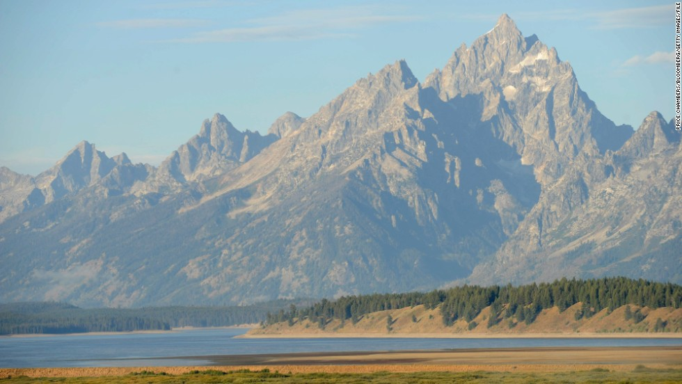 The Teton Mountain Range in Wyoming, where 48% of the state's land is owned by the federal government.
