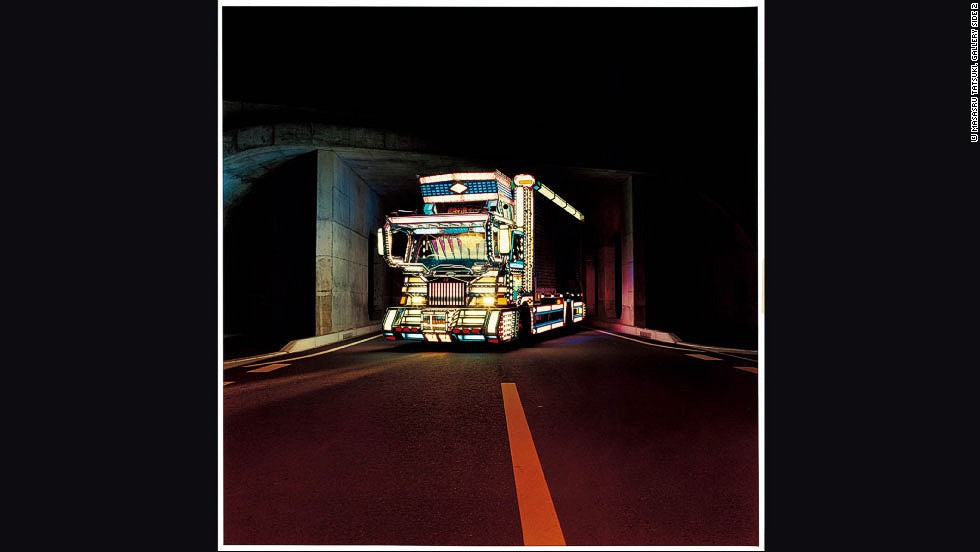"Japanese photographer <a href=""http://tatsukimasaru.com/decotora/"" target=""_blank"">Tatsuki Masaru</a> has been capturing Japan's spectacularly decorated trucks since 1998. Known as <em>decotora</em>, they feature everything from murals and chandeliers to Louis Vuitton-patterned steering wheels and Hello Kitty stenciling. The most elaborate trucks can resemble casinos on wheels. <br /><br />The glamor and artistry of the drivers' designs belie the difficulty of their daily lives. Drivers spend weeks away from home, earn low wages, and are held in low regard by society at large. For drivers who spend tens of thousands of dollars kitting out their trucks, decotora become a vehicle to assert their pride. As Tatsuki says: ""When the trucks' lights go on in the darkness, it is a symbol saying, 'We are here'"".<br /><br /><em>Editor's note<em></em><strong>:</em></strong><em> Masaru creates square images. However, we have cropped them to fit this slideshow.</em><br /><br />Interview by <a href=""http://twitter.com/willyleeadams"" target=""_blank"">William Lee Adams</a>"