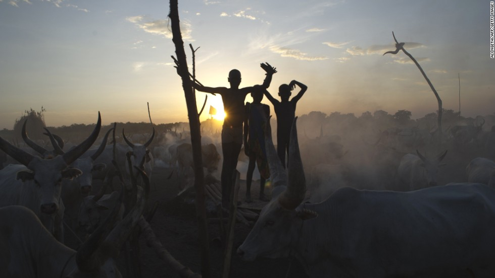 "Cattle herders stand among their animals in Terekeka, South Sudan, on Sunday, April 13. The conflict in South Sudan has triggered a serious risk of famine, the United Nations has warned. <a href=""http://www.cnn.com/2014/04/11/world/gallery/week-in-photos-0411/index.html"">See last week in 27 photos</a>"