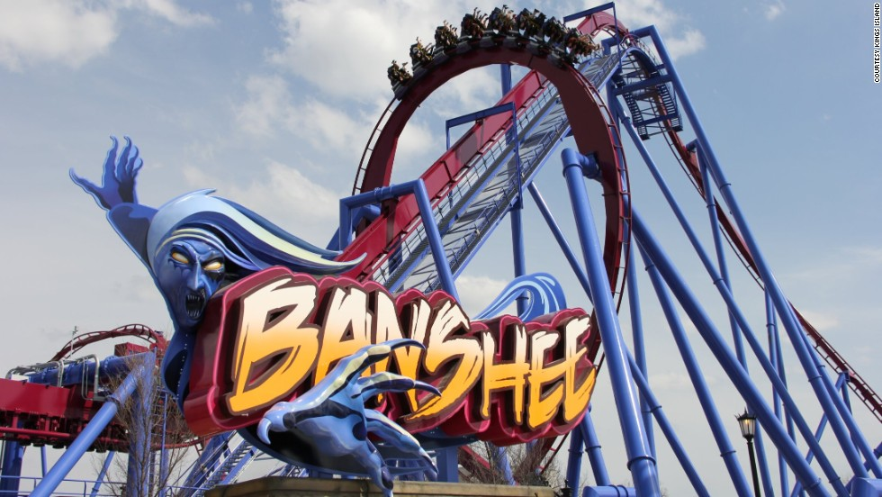Banshee, which opened April 18 at Kings Island in Mason, Ohio, is billed as the longest inverted coaster in the world.
