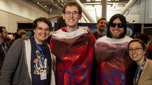 Game designer Will Brierly with fans.