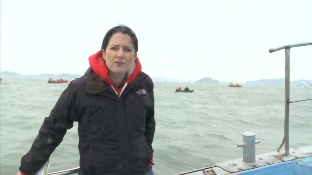 Oil slick spotted near sunken ferry