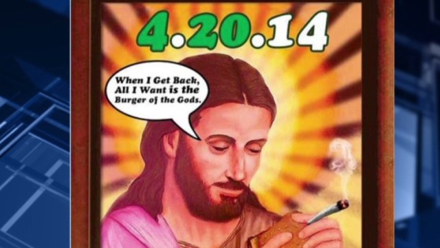 Restaurant ad depicts Jesus smoking pot