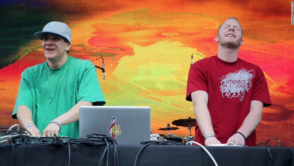 Denver hip-hop duo Bass Physics performs at Civic Center Park in Denver on April 19.