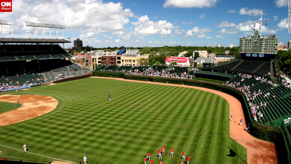 """Ondrovic's favorite thing about Wrigley field? """"The classic ivy on the outfield walls,"""" he says."""