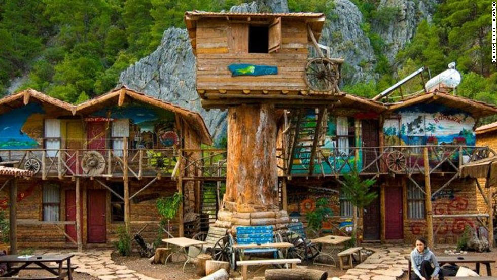 These simple wooden bungalows set amid the branches have long been popular with backpackers who like to party hard.