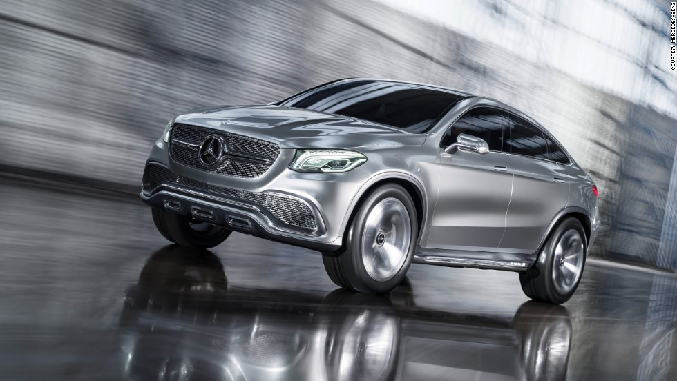 The Concept Coupe SUV by Mercedes-Benz has a sleek look for a big car standing more than 1.7 meters tall.