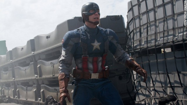 "Chris Evans' Captain America suits up again in the 2014 sequel ""Captain America: The Winter Soldier."""