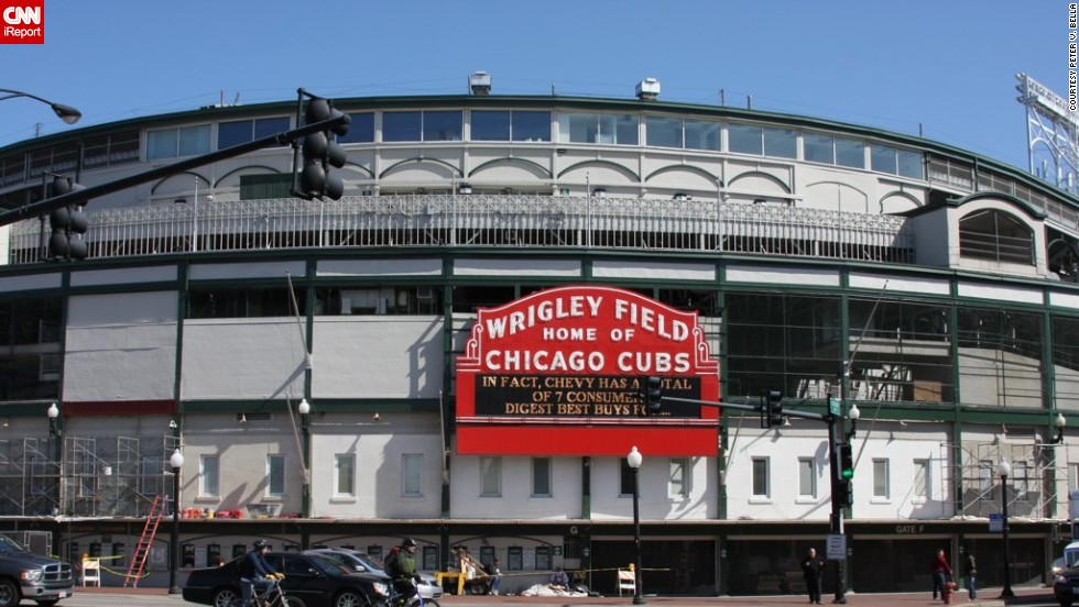 "Chicago baseball park Wrigley Field celebrates its 100th birthday on April 23. <a href=""http://ireport.cnn.com/topics/1105968"">CNN iReport </a>asked Chicagoans, baseball fans and travelers to share their memories and photos of the major league's second oldest ballpark behind Boston's Fenway Park."