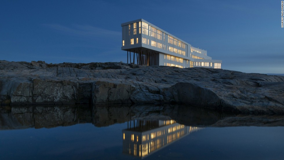 "The Fogo Island Inn is described as a destination in itself. It's remote -- on Canada's east coast --  but this homage to Newfoundland's fishing culture pairs guests with a ""community host"" to show them around."