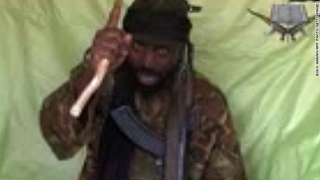A screen grab taken on April 19, 2014 obtained by AFP shows a man claiming to be Abubakar Shekau, the leader of Boko Haram.