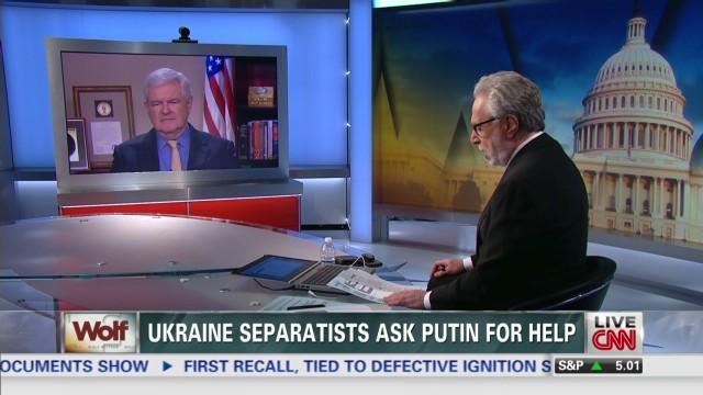 exp Crossfire host Newt Gingrich talks Ukraine, Putin with Wolf Blitzer_00002001.jpg