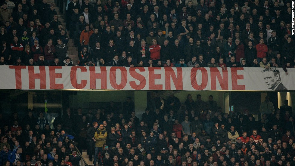 "Despite the club's troubles under Moyes, many fans continued to back Ferguson's chosen successor. Patience soon started to wear thin, however, and one group of supporters even arranged for an aircraft to fly over Old Trafford during the 4-1 win against Aston Villa at the end of March, carrying a banner reading: ""Wrong One -- Moyes Out."""
