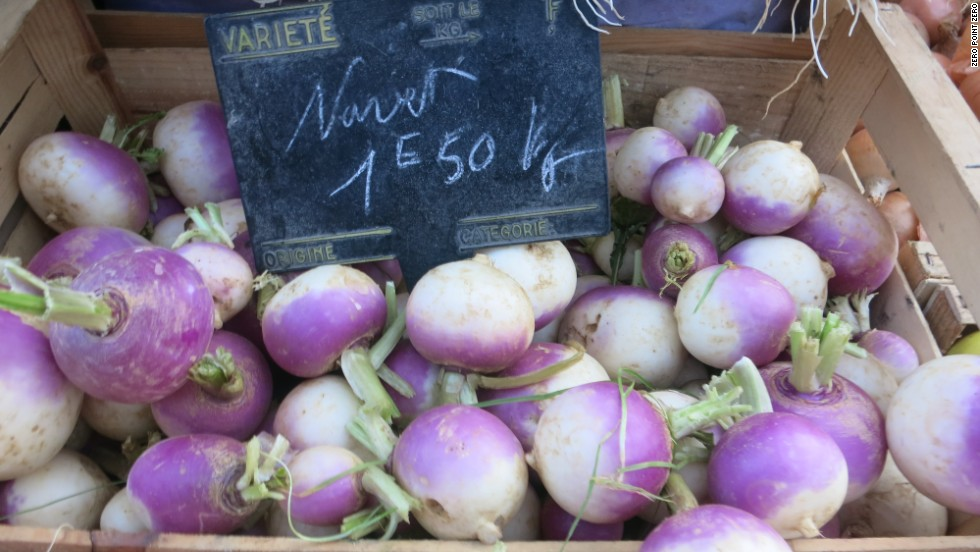 Radishes for sale at Marche Saint Antoine.