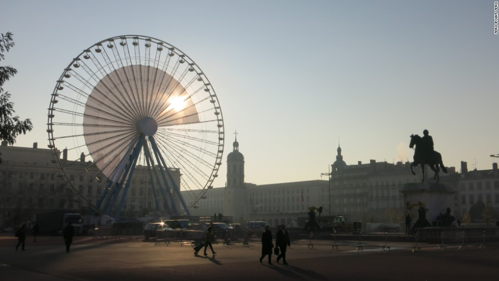 Place Bellecour in Lyon.