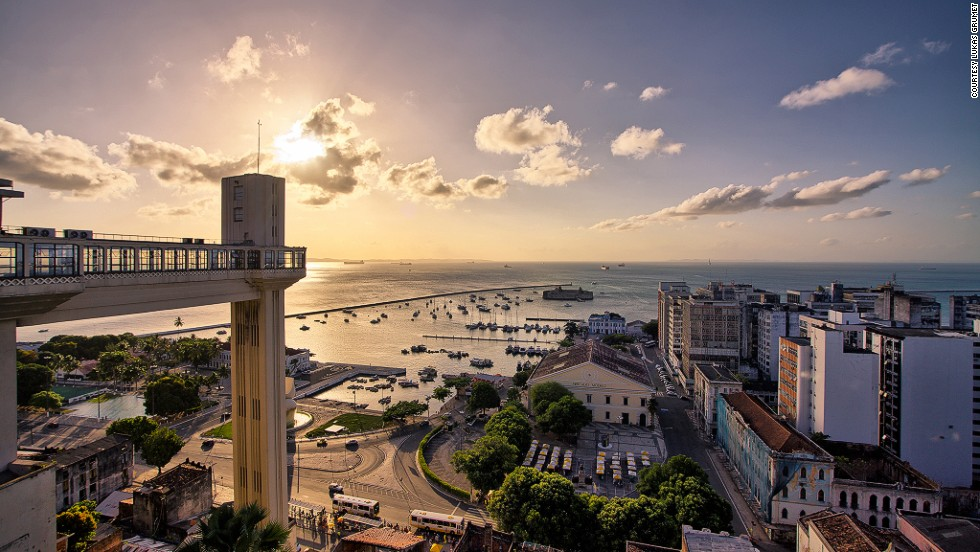 <strong>Elevador Lacerda</strong><br />The elevator connecting Cidade Alta (Upper Town) and Cidade Baixa (Lower Town) in Salvador, Bahia, was the first to be installed in Brazil, in 1873. The original two-car elevator was given an art deco makeover in 1930. The restored and now four-cabin elevator provides the 22-second trip for around 10 cents.<br />Elevador Lacerda, Praça Municipal, Centro Histórico, Salvador, Bahia; +55 71 3243 4030