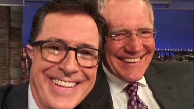 See Colbert's new look on 'Letterman'