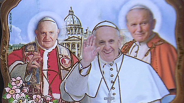 Pope to canonize two 'rock star' popes