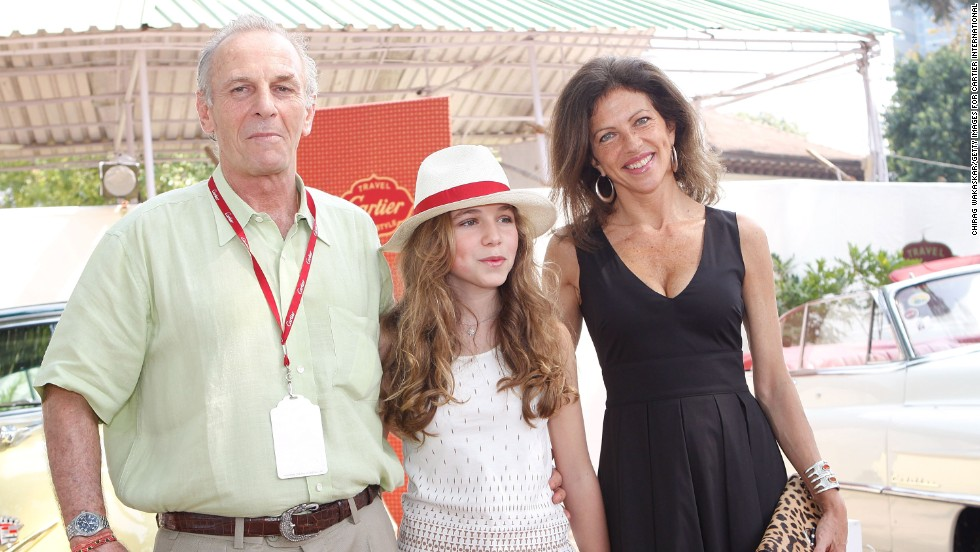 Shand with his daughter, Ayesha, and wife, Clio, during the Cartier Travel With Style Concours at the Royal Western India Turf Club in Mumbai on November 2, 2008.