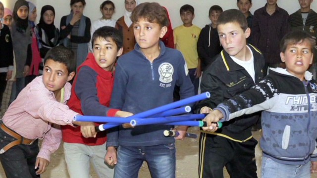 Syrian children perform Shakespeare
