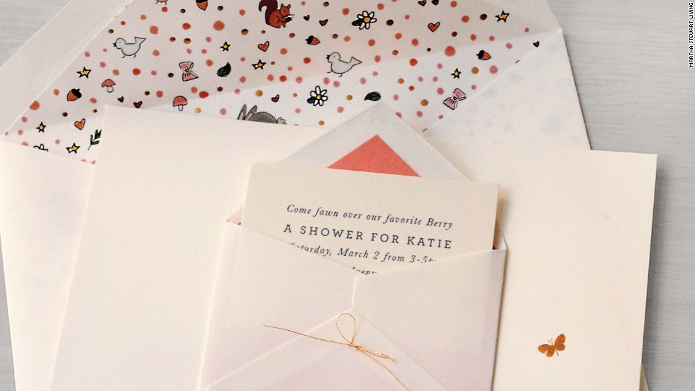 The shower invitations featured hand-drawn deer, a special touch that made all the difference, editorial director Darcy Miller said.