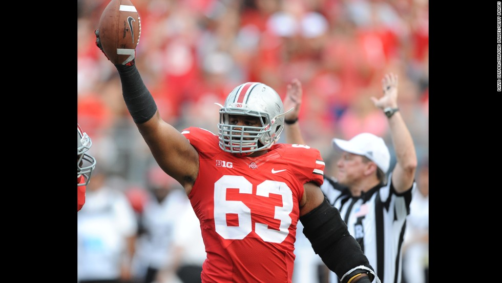 "<strong>Ohio State football player Michael Bennett:</strong> ""I don't necessarily agree with football players being unionized,"" the defensive lineman told The Lantern. ""... The cost of living's going up and I don't think that our stipend is going up, so obviously a little bit more money is nice, but I'm not really in the business of trying to force people to do that."""