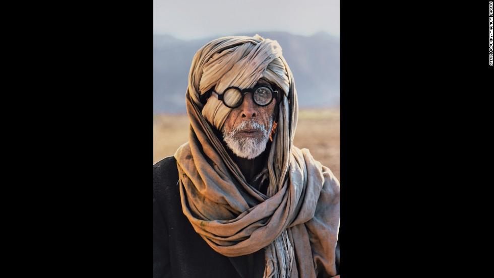 An Afghan refugee in Baluchistan, 1981.