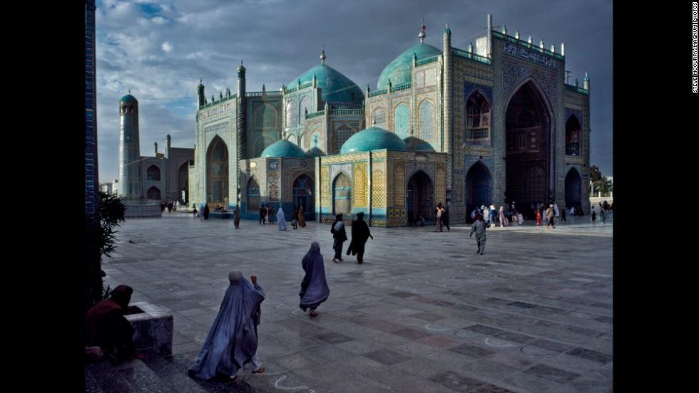 The Blue Mosque in Mazar-i-Sharif, 1992.