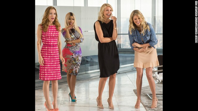 "Leslie Mann, Nicki Minaj, Cameron Diaz and Kate Upton bond in ""The Other Woman."""