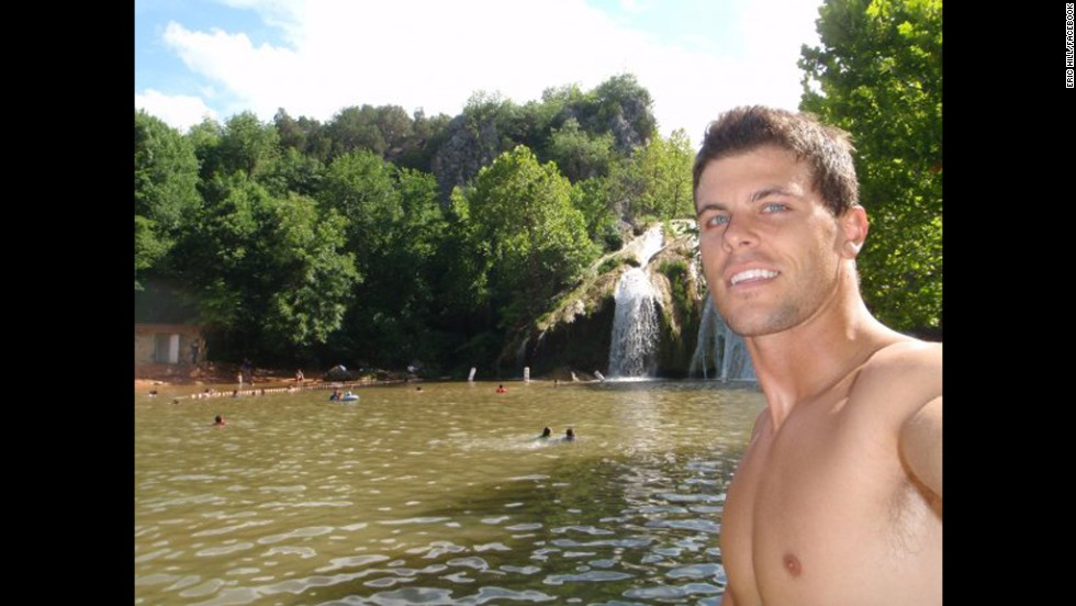 "<a href=""http://www.cnn.com/2014/04/24/showbiz/bachelorette-contestant-killed/"" target=""_blank"">Eric Hill</a>, who was a contestant on ""The Bachelorette,"" died in April 2014 from injuries suffered in a paragliding accident. Hill is seen here in a photo taken from his Facebook page. He was 31."