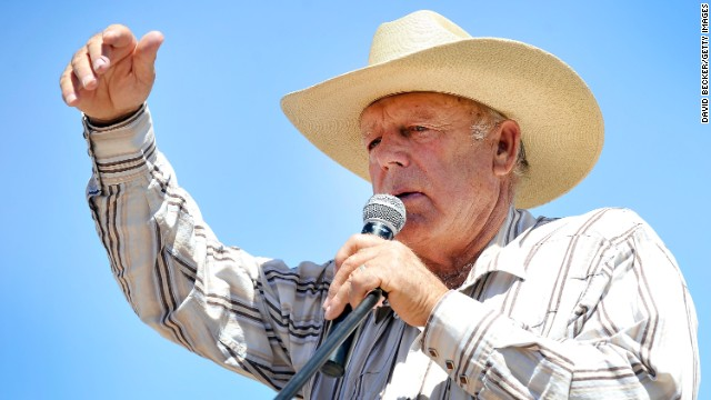 BUNKERVILLE, NV - APRIL 24: Rancher Cliven Bundy speaks during a news conference near his ranch on April 24, 2014 in Bunkerville, Nevada. The Bureau of Land Management and Bundy have been locked in a dispute for a couple of decades over grazing rights on public lands. (Photo by David Becker/Getty Images)