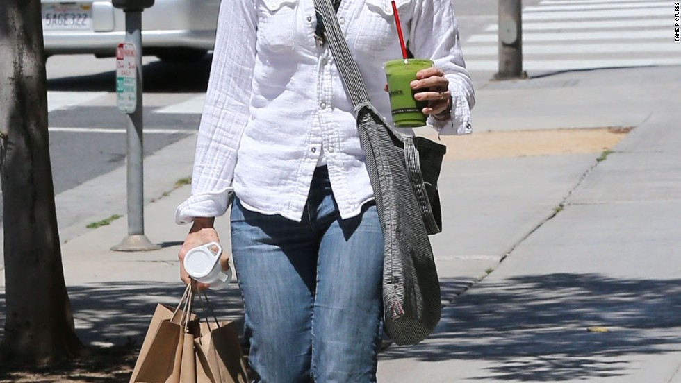 Newlywed Jodie Foster gets some shopping done on April 24.