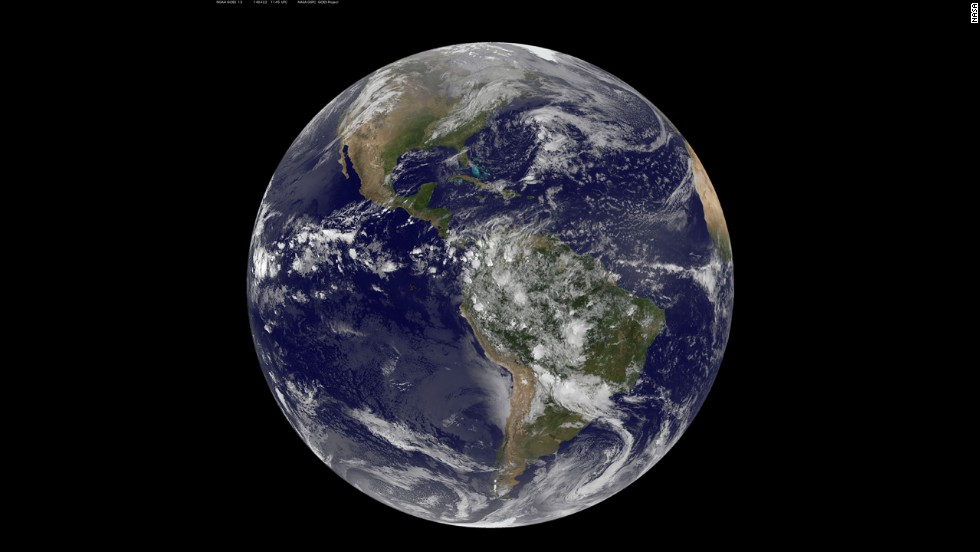NOAA's GOES-East satellite captures a stunning view of the Americas on Earth Day, Tuesday, April 22.