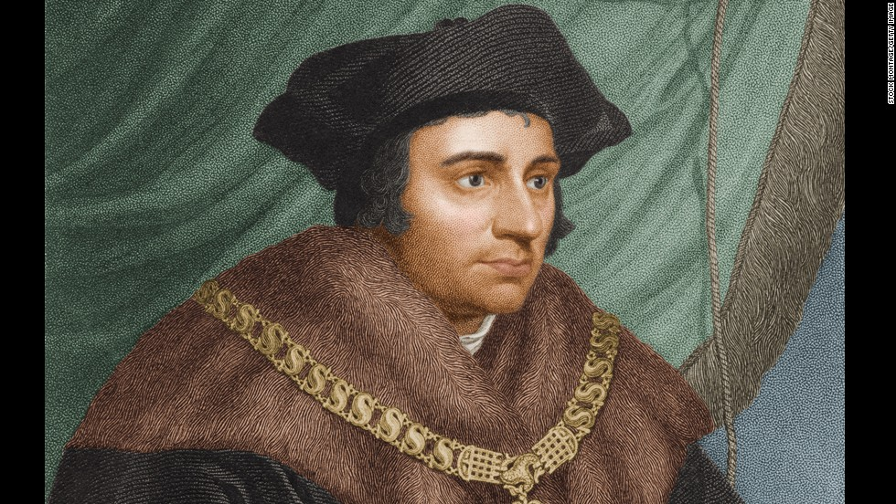 St. Thomas More is the patron saint of attorneys, but he was put to death for defying his powerful client: English King Henry VIII. Moore, an ardent Catholic, refused to go along with Henry's divorce of Queen Catherine and the subsequent separation of church and crown.