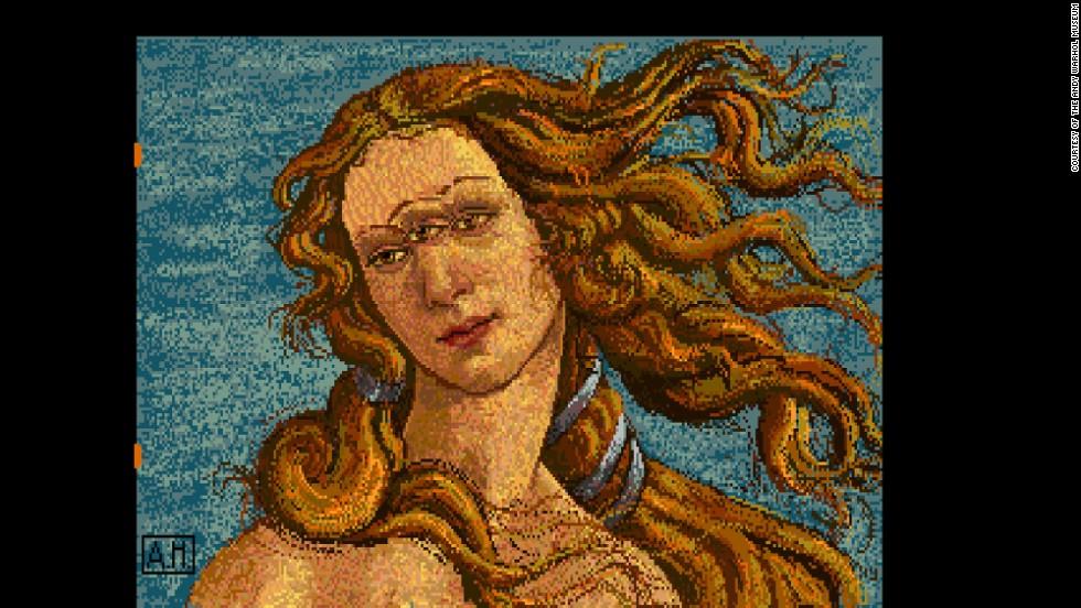 "Warhol created his vision of ""Venus"" with three eyes."