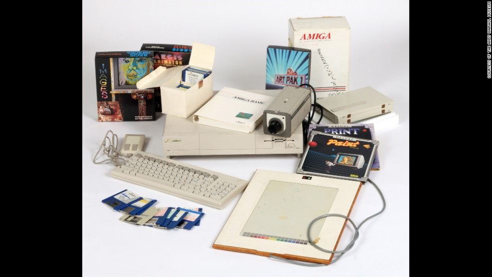 The Commodore Amiga computer, software and other equipment used by Warhol.