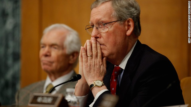 Sens. Mitch McConnell of Kentucky, foreground, and Thad Cochran of Mississippi are both up for re-election this year.