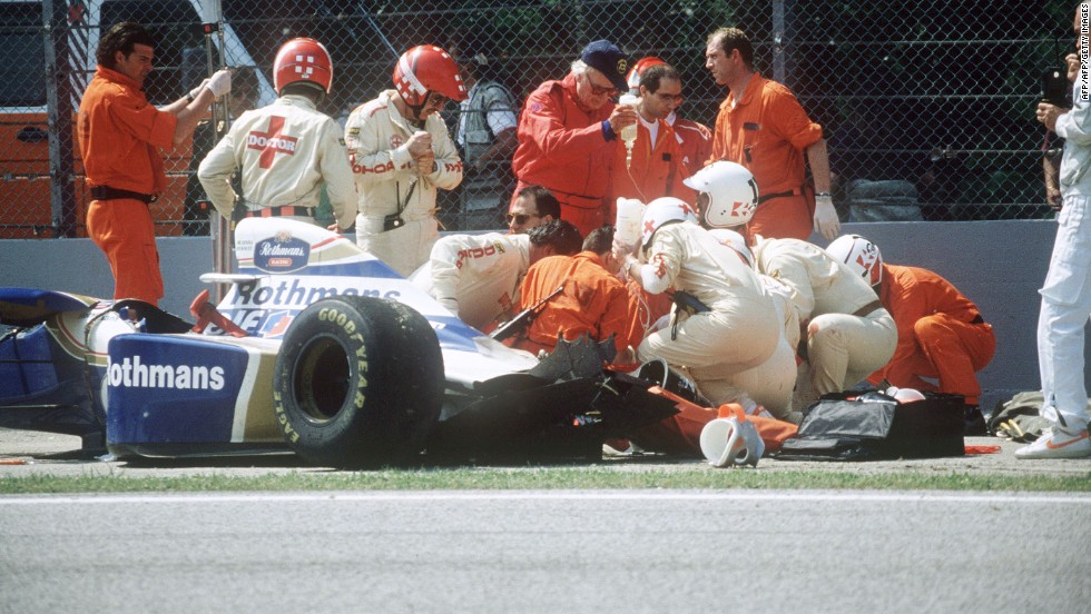 Senna joined the Williams team in 1994. He would go on to lose his life in the third race of the season at the San Marino Grand Prix, in the town of Imola. His car crashed into a concrete wall at the flat-out Tamburello corner having left the track at around 310 kph.