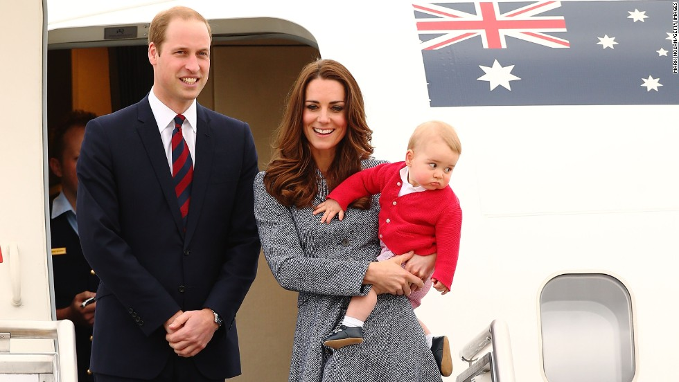 The 8-month-old prince heads back to the UK with his parents.