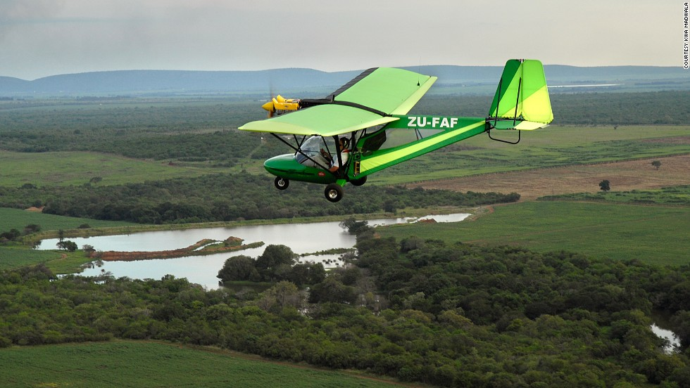 Flying over the bush in a two-seater with an open cockpit is a throwback to the days when legendary pilots such as Denys Finch Hatton and Beryl Markham explored Africa by air.