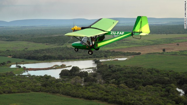 Kwa Madwala Private Game Reserve's private microlight flight.