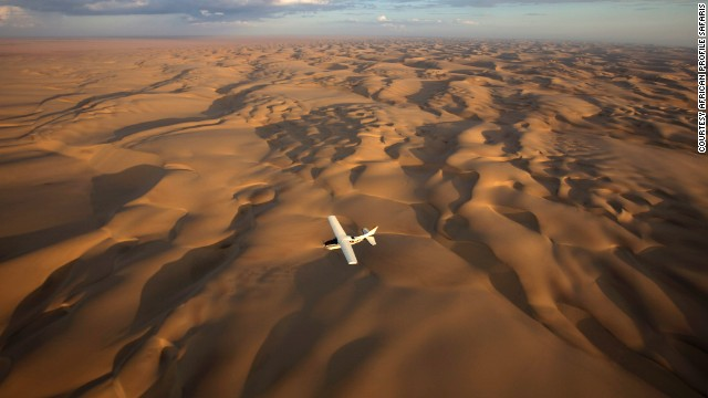 Private flying safaris take visitors over the Kalahari Desert and Okavango Delta.