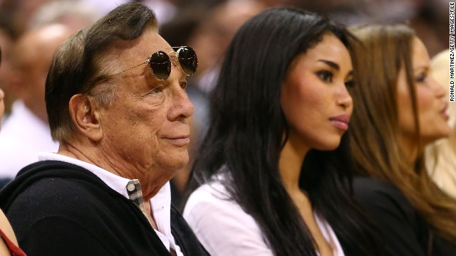 Donald Sterling with girlfriend V. Stiviano.