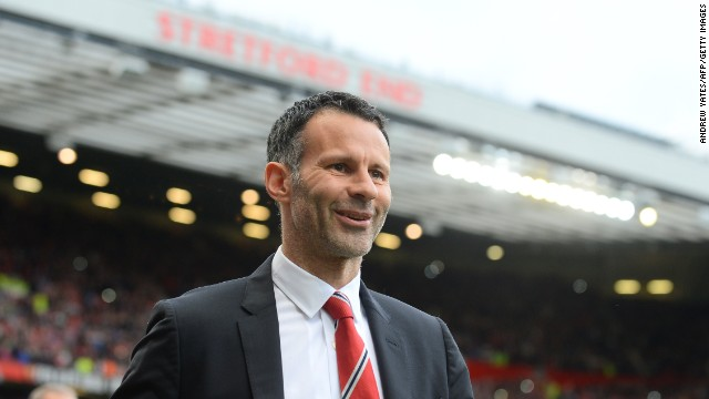 Ryan Giggs approaches the dugout at Old Trafford before his side's 4-0 victory over Norwich.