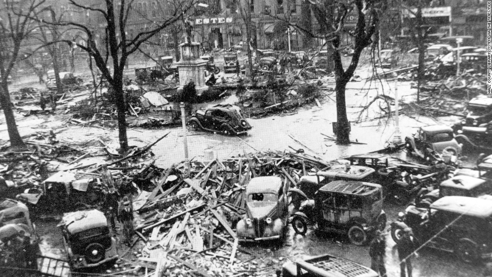 "<strong>5.</strong> The ""Gainesville Tornado"" was a pair of storms that converged April 6, 1936, in Gainesville, Georgia, killing 203 people and injuring 1,600. The tornado destroyed four blocks and 750 houses in the northern Georgia town."