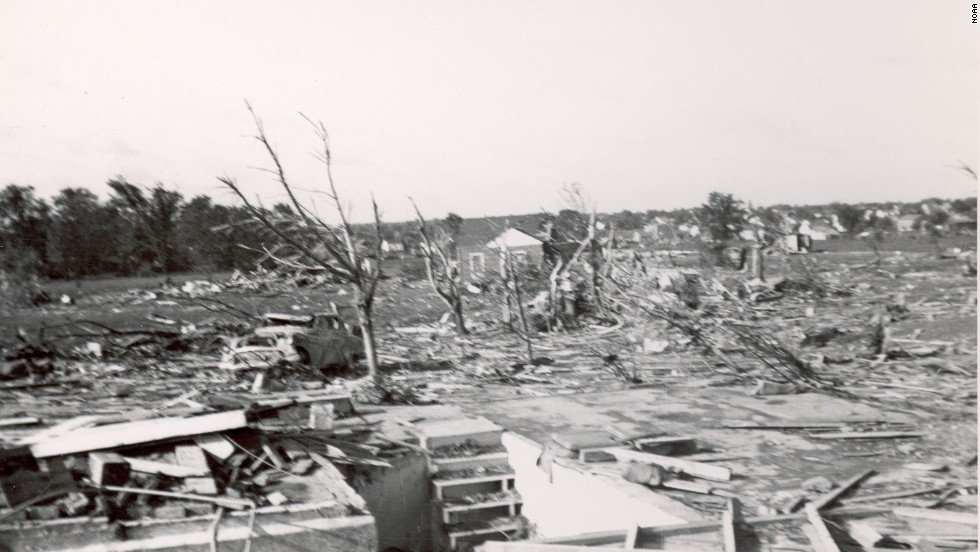 "<strong>10. </strong>The ""Flint Tornado"" killed 115 people and injured 844 on June 8, 1953, in Flint, Michigan. The tornado was the deadliest twister ever recorded in the state."